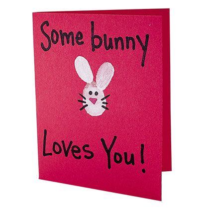 Thumb Bunny Card