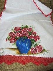 pano de prato: Prato Pintura, Art Enpintura, Textile Painting, Arte En Pinturas, Painting Ems