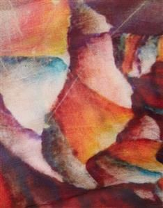 MULTI-Silk Marble Print Scarf