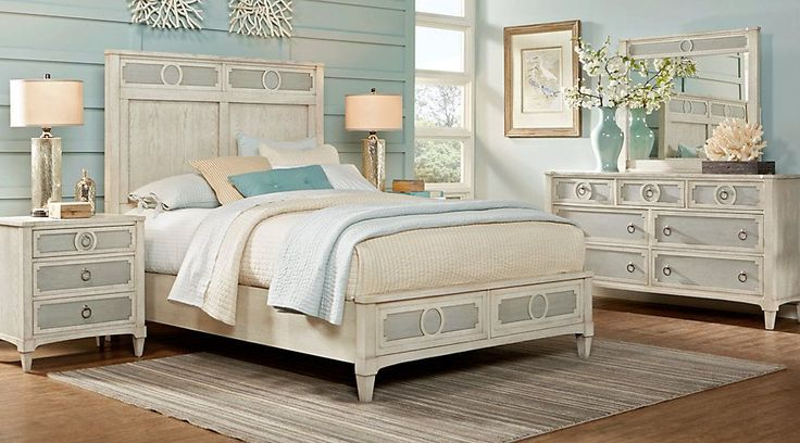 Cindy Crawford Home Harlowe Ivory 5 Pc King Bedroom from  Furniture