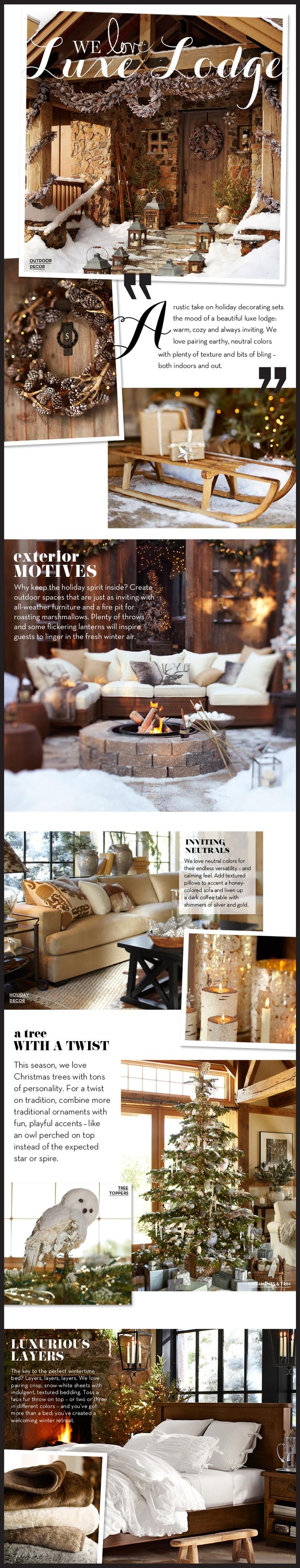 Christmas outdoor decor Pottery Barn design ideas