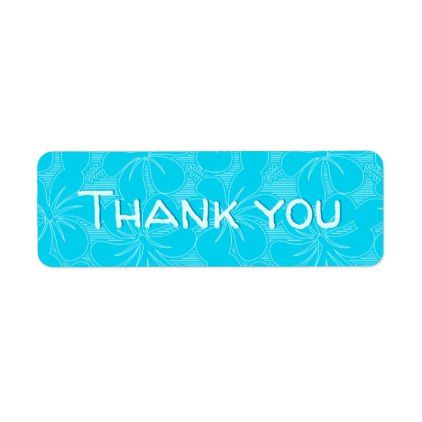 Blue Hibiscus lines Label - individual customized designs custom gift ideas diy