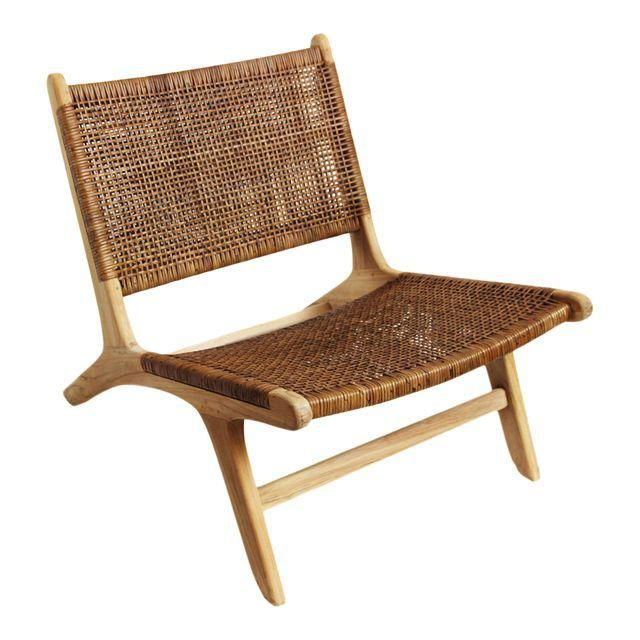 Modern Teak Amp Wicker Easy Chair In 2019 Eastpointe