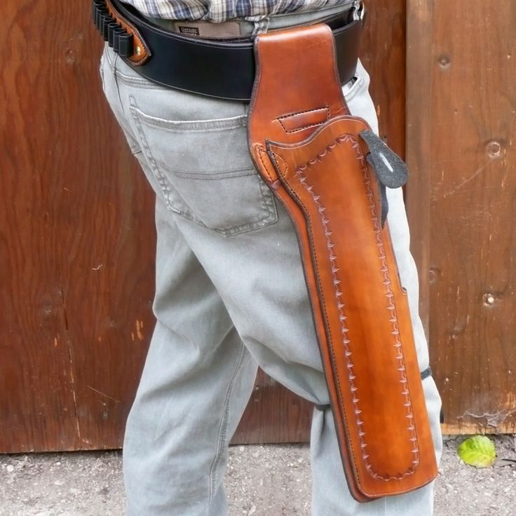Mare's Leg Holster light-brown. YOU DREAM IT - WE MAKE IT.