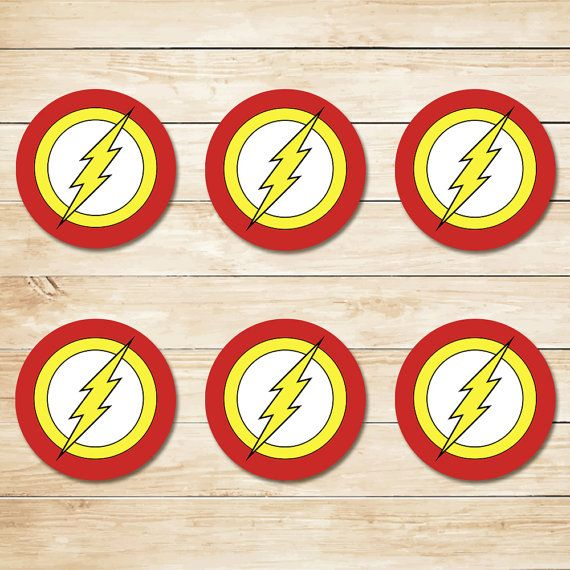 The Flash Sticker / The Flash Cupcake Topper / by ApothecaryTables