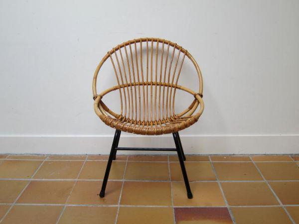 Jaren 60 rieten stoel