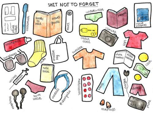 Op reis? Vergeet deze dingen niet! #AllesVoor #reizen #paklijst