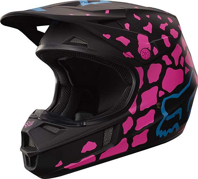 Fox Racing Grav Youth V1 Motocross Motorcycle Helmet Black Pink