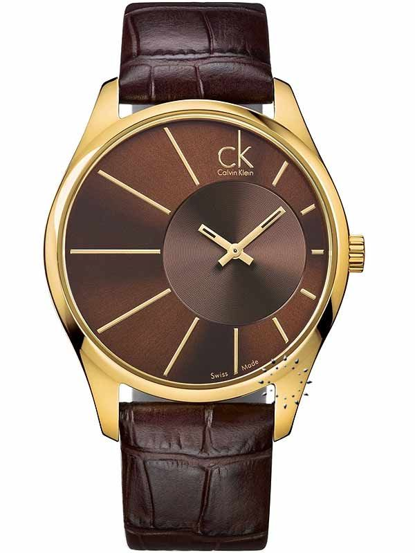 CALVIN KLEIN Deluxe Brown Leather Strap Η τιμή μας: 189€ http://www.oroloi.gr/product_info.php?products_id=17028