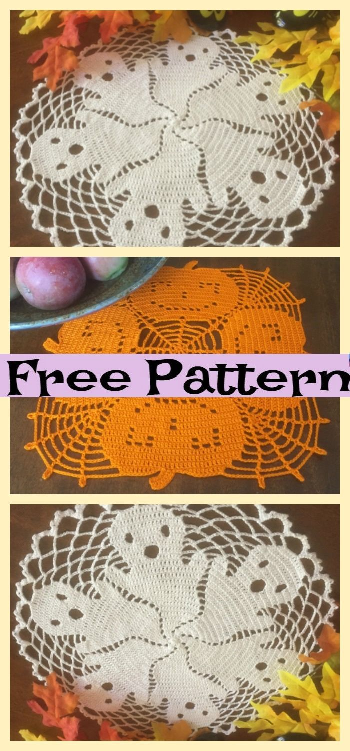 Crochet Halloween Doilies – Free Patterns