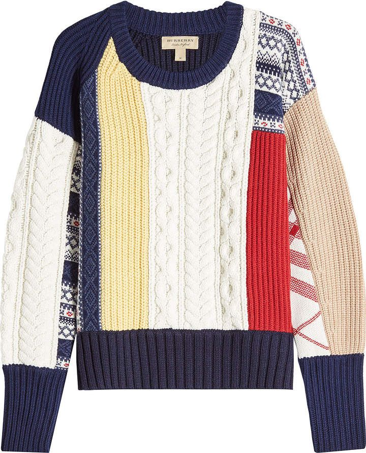 Burberry Wool Pullover with Cashmere / jersey con estampados