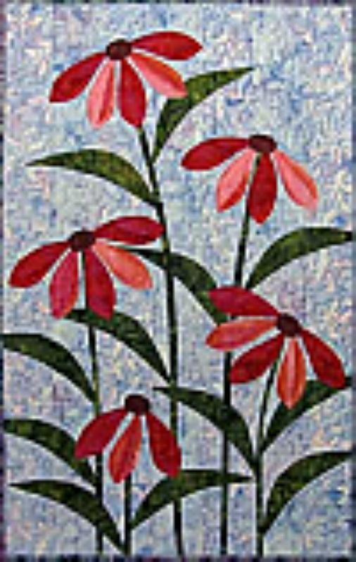Intermediate wall hanging for Spring or Summer. Ribbon Blossoms Quilt Pattern CJC-4547 by Castilleja Cotton - Diane McGregor.  Check out our wall hanging patterns. https://www.pinterest.com/quiltwomancom/quilted-wall-hangings/  Subscribe to our mailing list for updates on new patterns and sales! https://visitor.constantcontact.com/manage/optin?v=001nInsvTYVCuDEFMt6NnF5AZm5OdNtzij2ua4k-qgFIzX6B22GyGeBWSrTG2Of_W0RDlB-QaVpNqTrhbz9y39jbLrD2dlEPkoHf_P3E6E5nBNVQNAEUs-xVA%3D%3D
