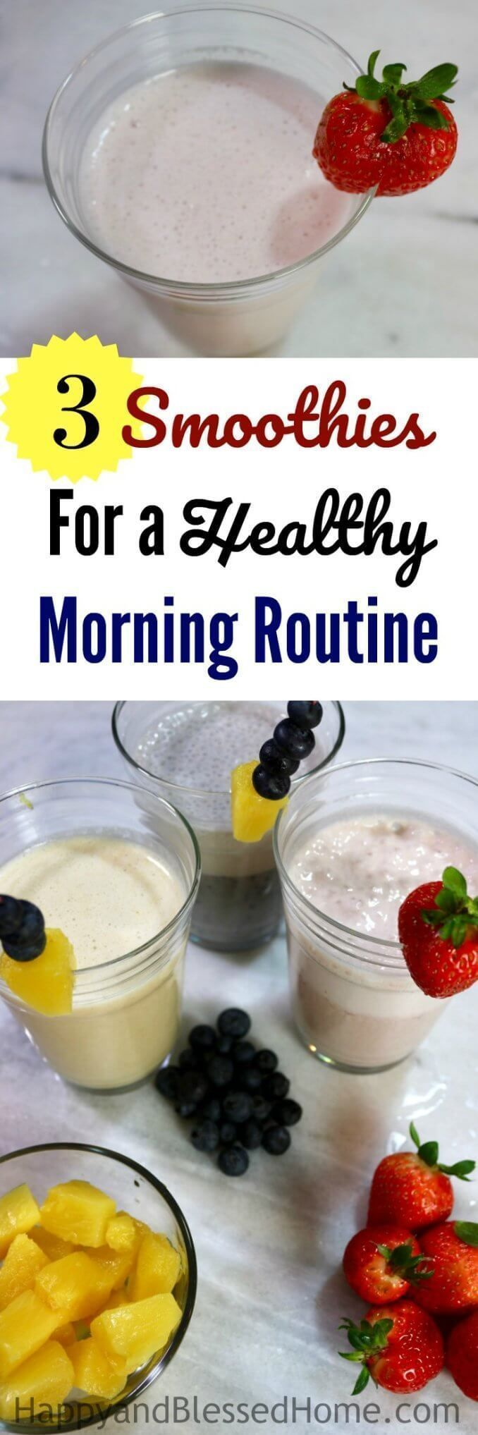 3 Easy and Tasty Smoothie Recipes for a Healthy Morning Routine - The dairy-free options are only around 300 calories each and are packed with protein. Perfect for breakfast or an after workout pick-me-up. I can even give these to my kids for an after school snack. And the fruit flavors are delicious - pineapple smoothie, strawberry smoothie and blueberry smoothie - YUM! Ad #ProgressIsPerfection #CBias