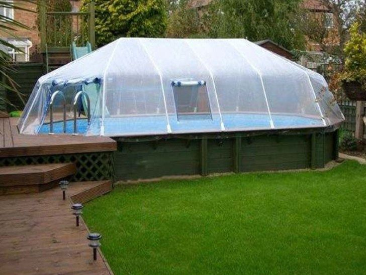 Above Ground Swimming Pool Cover Above Ground Swimming Pools In Ground Pools Swimming Pool Enclosures