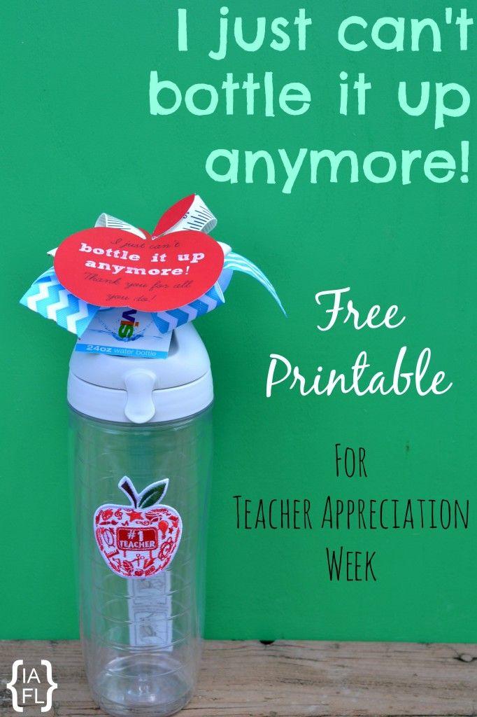 Teacher Appreciation Gift Idea! Teacher Water Bottle ...