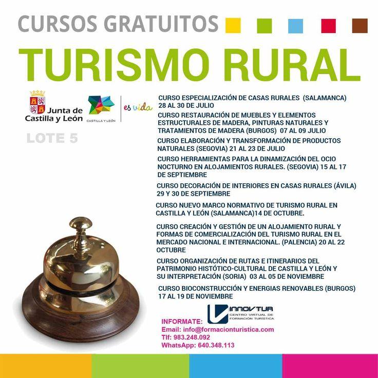 Cursos de formacion turistica :Dirigidos al subsector del turismo rural en Castilla y León