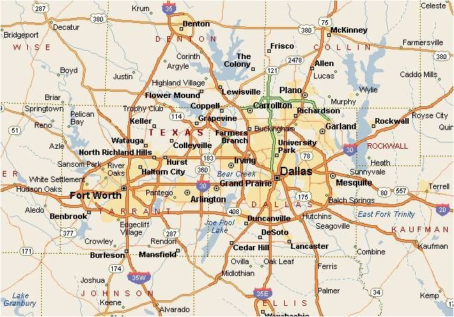 the DallasFort Worth metroplex a map Facebook