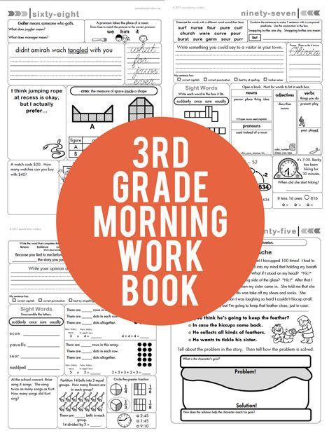"3rd Grade Common Core Aligned Morning Work // Recent feedback: ""This is such a wonderful way to help new third grade teachers. It has a little of everything so it reminds both students and teachers what they need to focus on routinely. Superb!"""