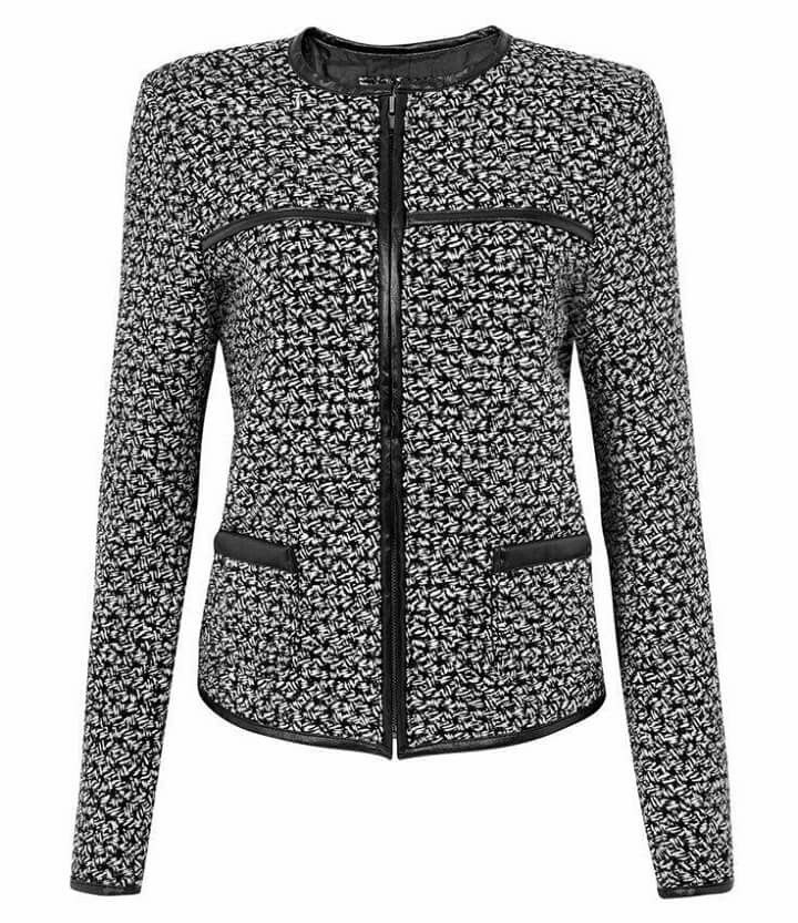 Black & White Leather Trimmed Jacket... Cute!