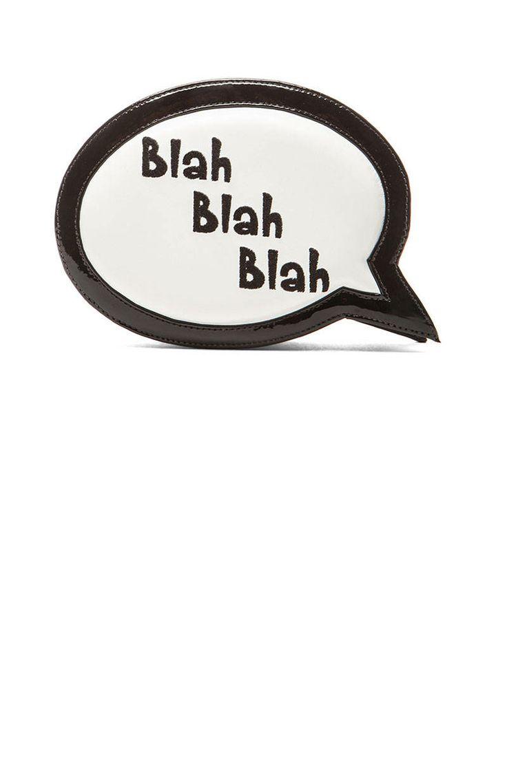 Sophia Webster Speech Bubble Blah Blah Blah Bag in Black & White, $500
