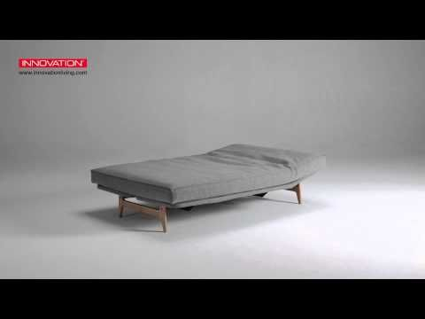 Video of how to use the Aslak Sofa Bed - oak - from Innovation Living