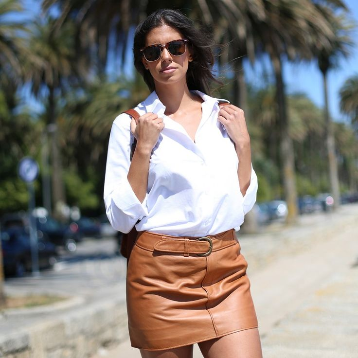 Saia em pele Leather Skirt #Mulher #Woman #desubito