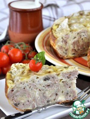 Быстрый мясной пирог в мультиварке