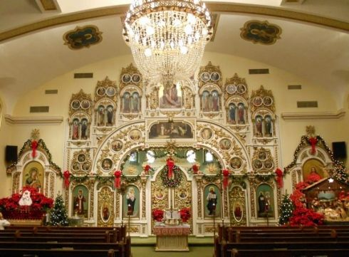 Plain People Decorating Church For Christmas And More On S Throughout Design Ideas