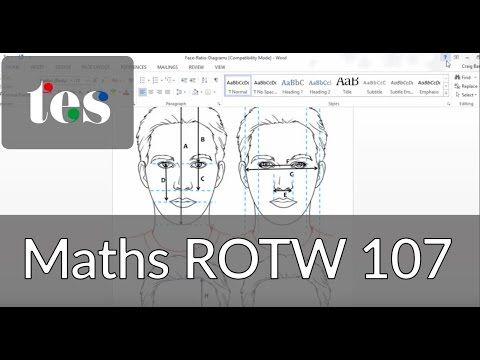 Golden Ratio: Are you beautiful? - TES Maths Resource of the Week 108 - Mr Barton Maths Blog