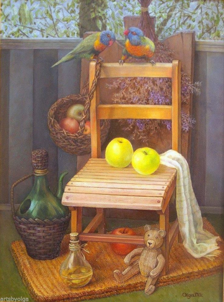 "Print ""Country Still Life with Apples"" Australian still life"