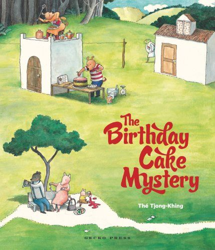 """""""The Birthday Cake Mystery"""", by Thé Tjong-Khing.  This is a detective story told entirely through pictures, filled with humorous details and red herrings. There are multiple stories to find and follow, and countless things to discover."""