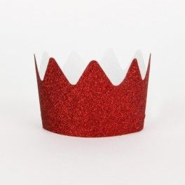 Glitter Crowns - Red {Also available in other colors} - Set of 8