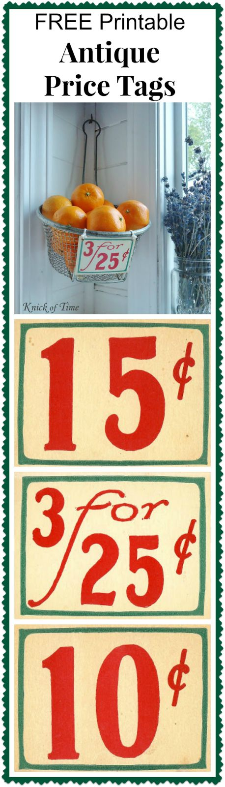 Antique Grocery Store Price Tags and Receipt ~~~ Visit Knick of Time @ knickoftime.net