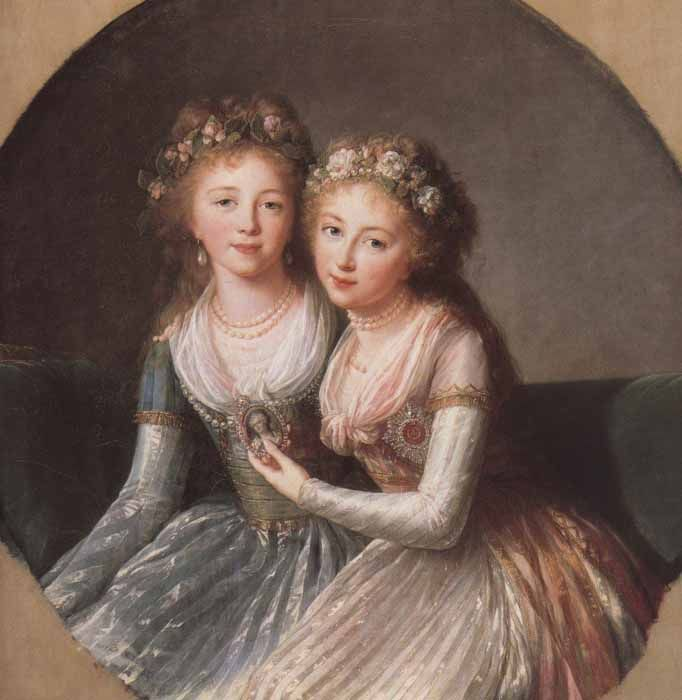 Elisabeth Louise Vigee Le Brun, Daughters of Paul I of Russia, 1796
