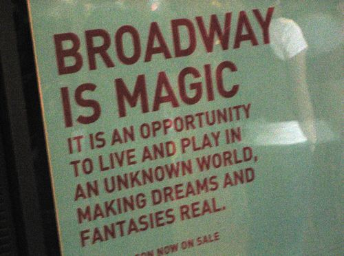 This is why I love Broadway shows so much, well that and a million other reasons...