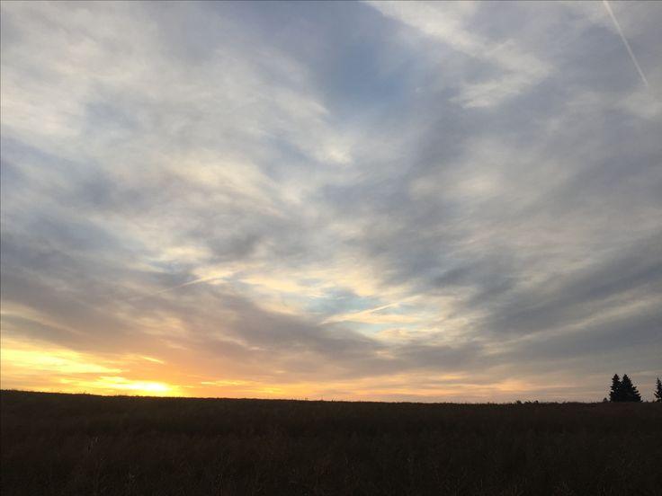 Sunrise. Hradec u Stoda. Waiting for the baker. Nature.