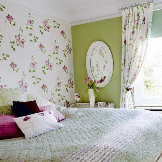 Wall Flower Wallpaper Designs For Bedrooms