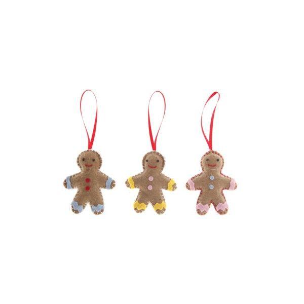Bonhommes en pain d'épices à coudre - Décoration sapin de Noël