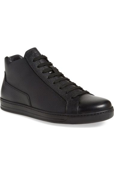Prada Linea Rossa Mid Top Sneaker (Men) available at #Nordstrom