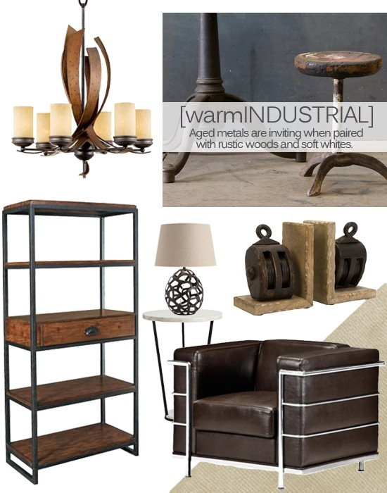 The warm industrial style blends the urban edge of for Warm industrial decor