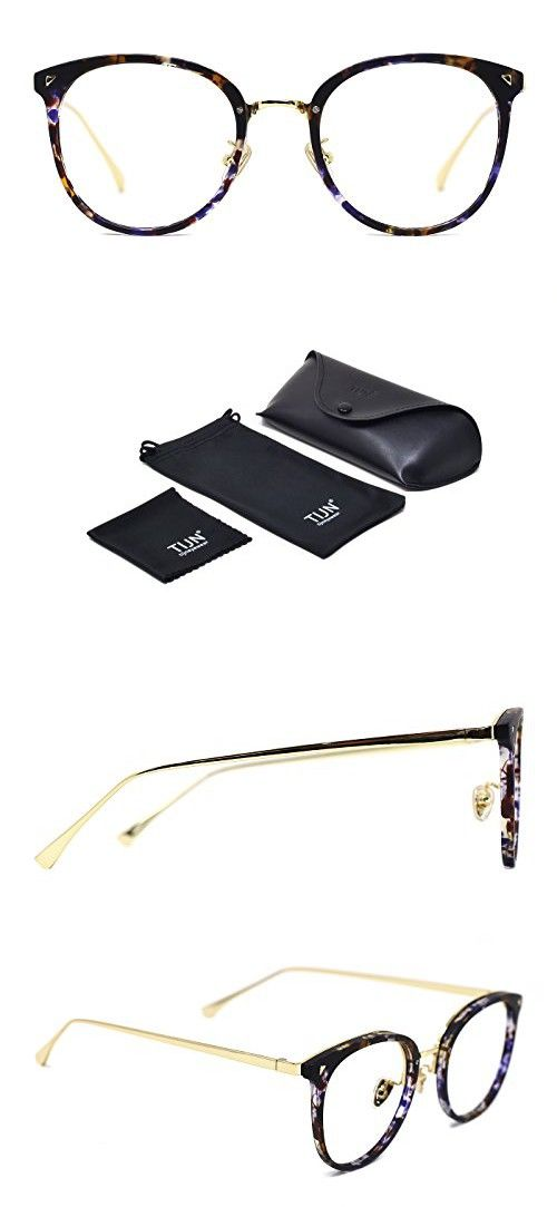 9673a7c177 TIJN Vintage Optical Eyewear Non-prescription Eyeglasses Frame with Clear  Lenses in 2018