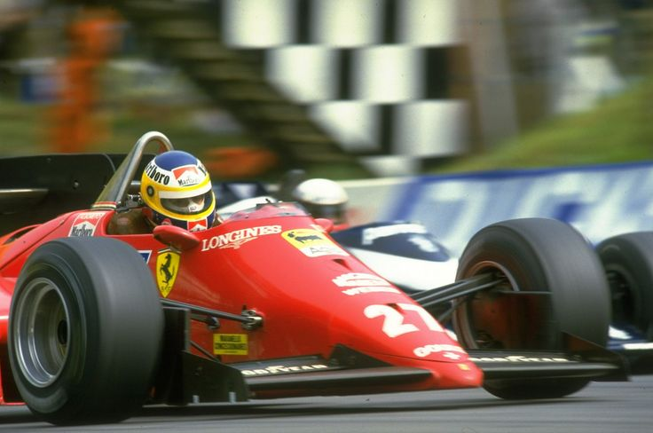 Alboreto Ferrari Brands Hatch '84