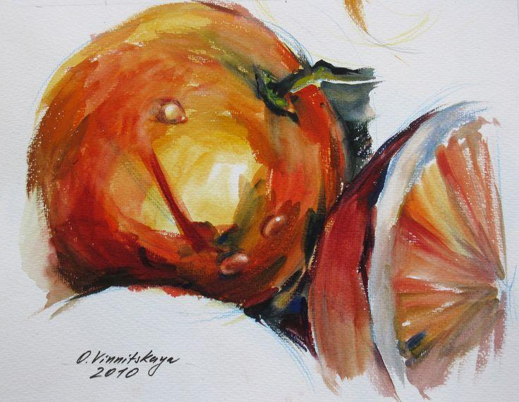 Olga Vinnitskaya. Aquarell mit Seife auf Papier.