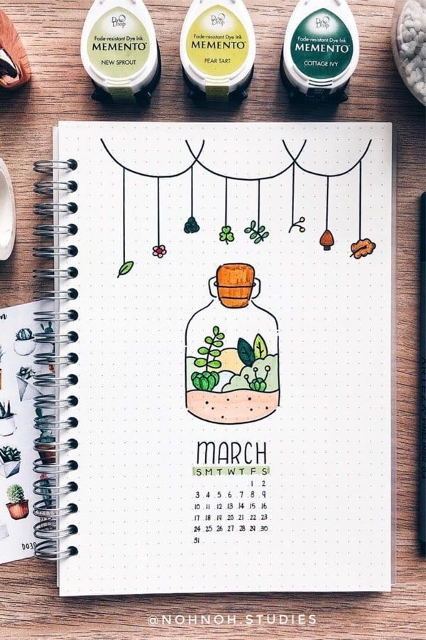 Bullet Journal Monthly Cover Ideas For March 2020 Bullet