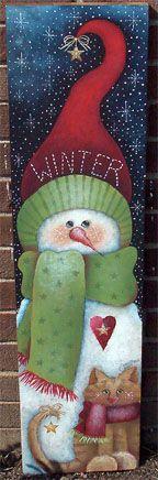 Winter Snowman Sign by Sharon Chinn