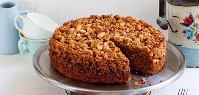 Warm Toffee Macadamia Nut Cake