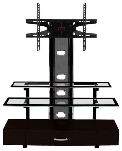 "Z-Line Designs - Sync 3-in-1 TV Mount System for Most Flat-Panel TVs Up to 60"" - Black"