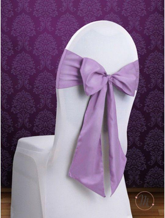 Fiocco per Sedia Satin Lilla. Fiocco per sedia satin. Per decorare le vostre sedie. Misure: 2.75 mt x 15 cm. Ordine minimo 10 pezzi e multipli di 10. #allestimenti #matrimonio #ricevimentomatrimonio #nozze #weddingplanner #accessori #decori #tavoli #sedie #runner #fiocchi #wedding #weddingideas #ideasforwedding #fiocco #satin