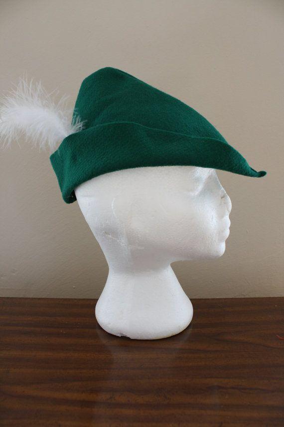 Peter Pan Hat Cap Kelly Green Felt Prince by arainydayplay on Etsy, $5.00