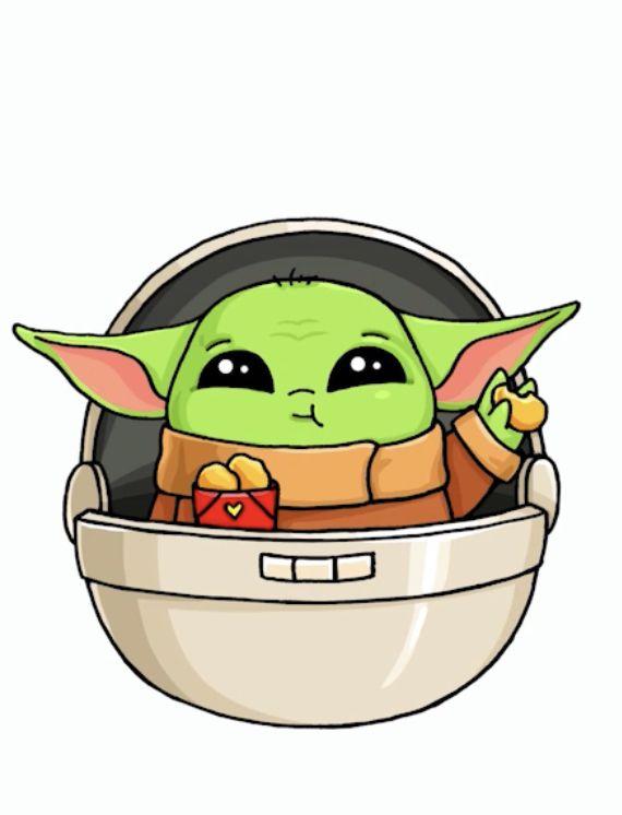 Draw So Cute Kwaii Baby Yoda Dibujos Kawaii Dibujos Kawaii Faciles Munecas Kawaii
